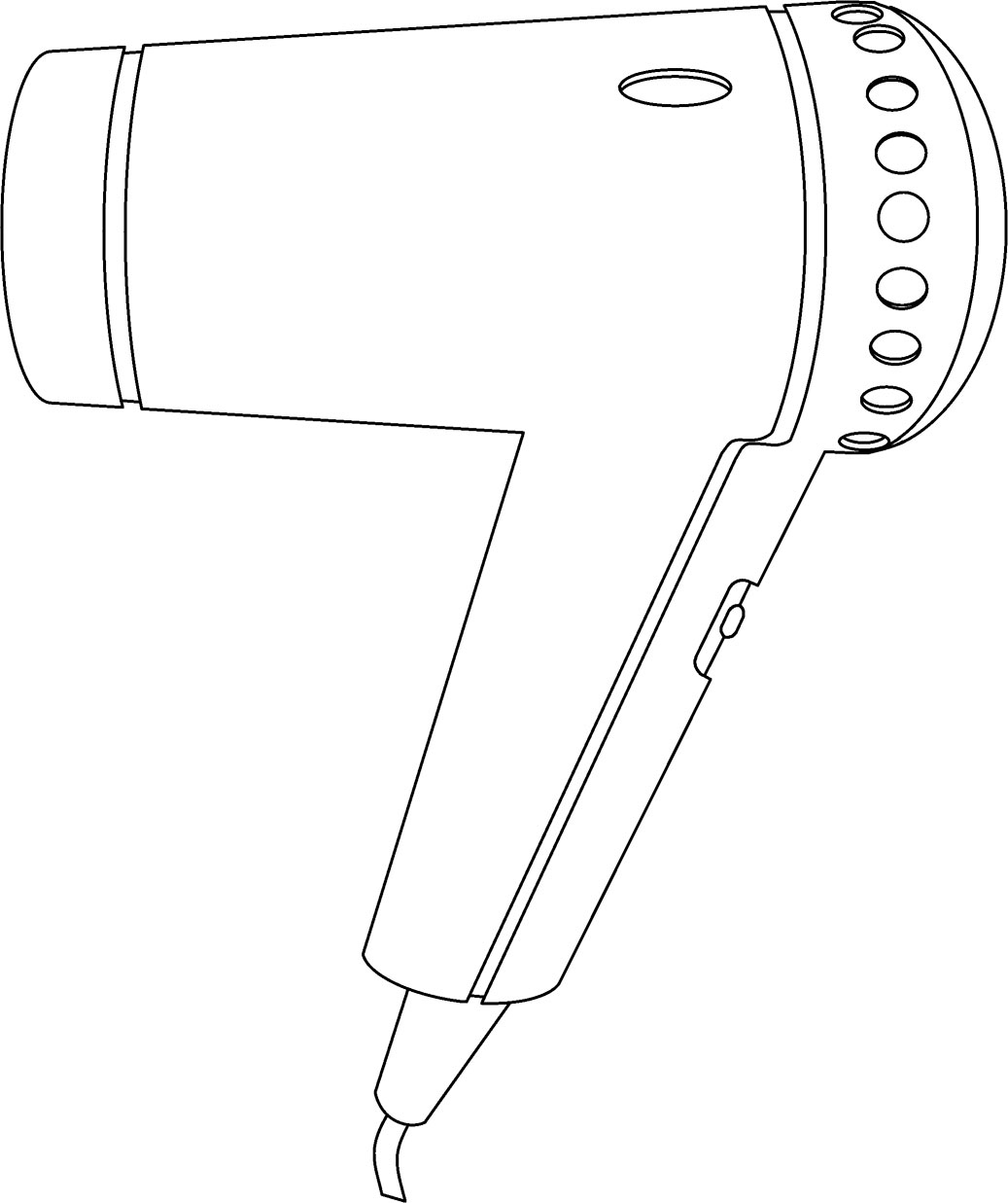 hair dryer coloring pages - photo #2