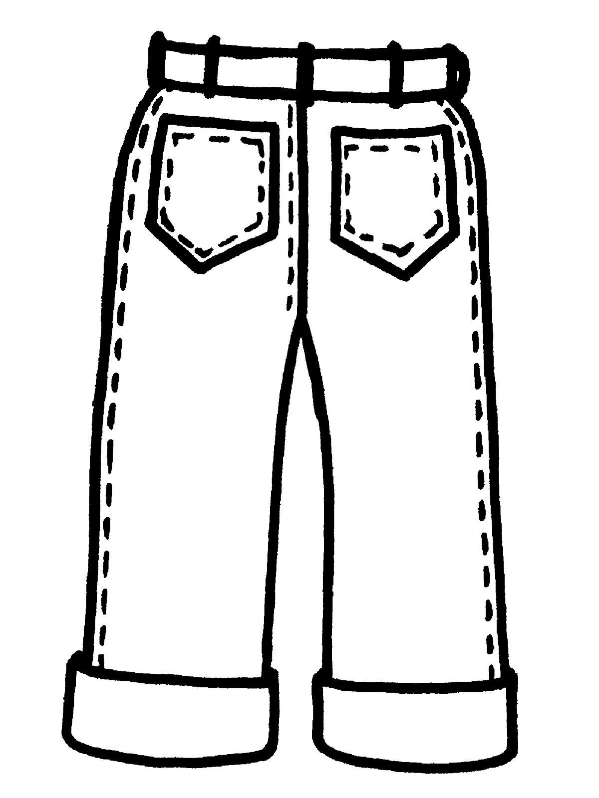 Раскраска одежда и обувь