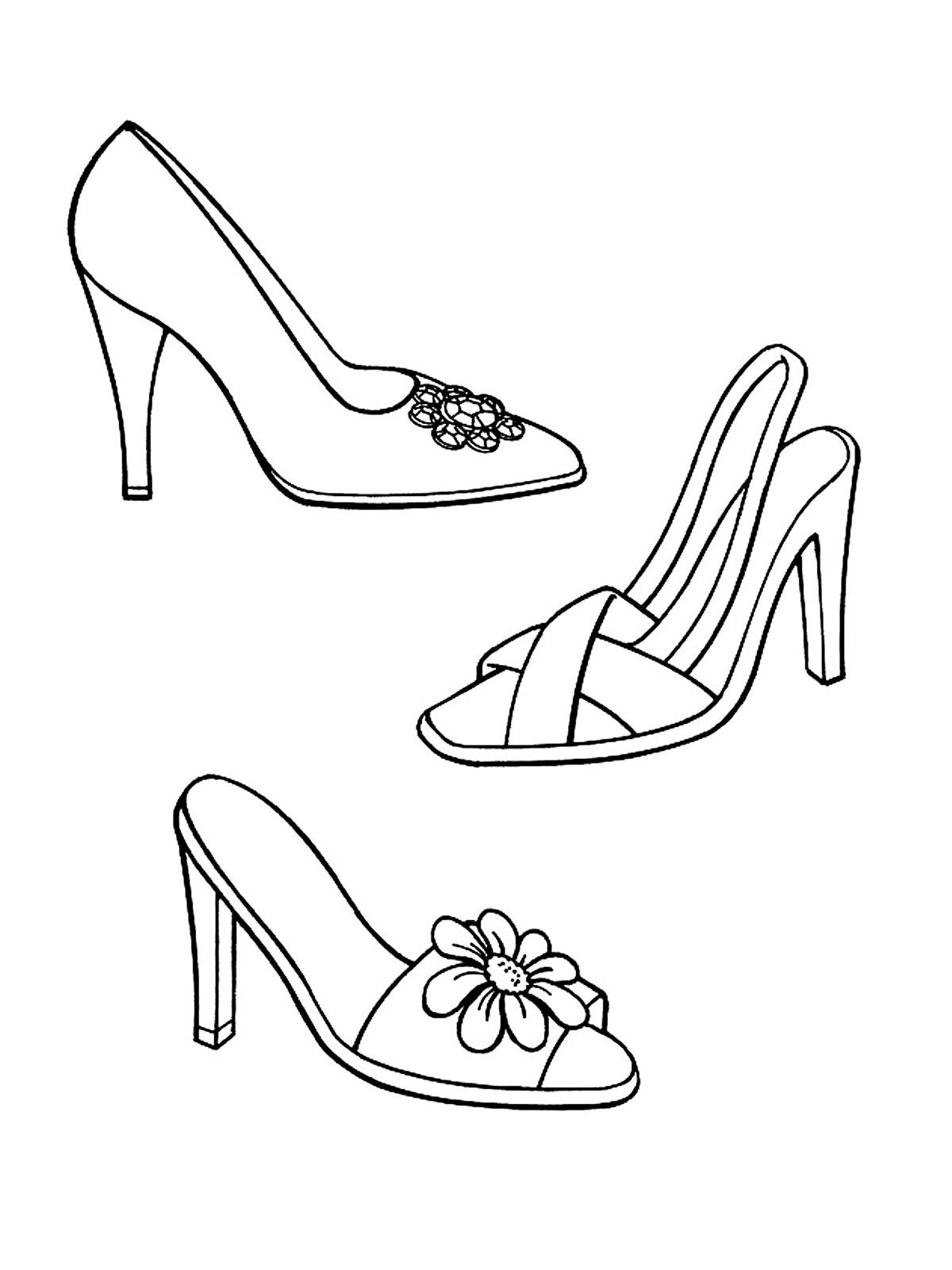 Раскраски одежда и обувь. Скачать. Распечатать