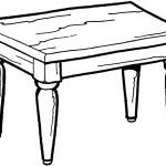 раскраски мебель