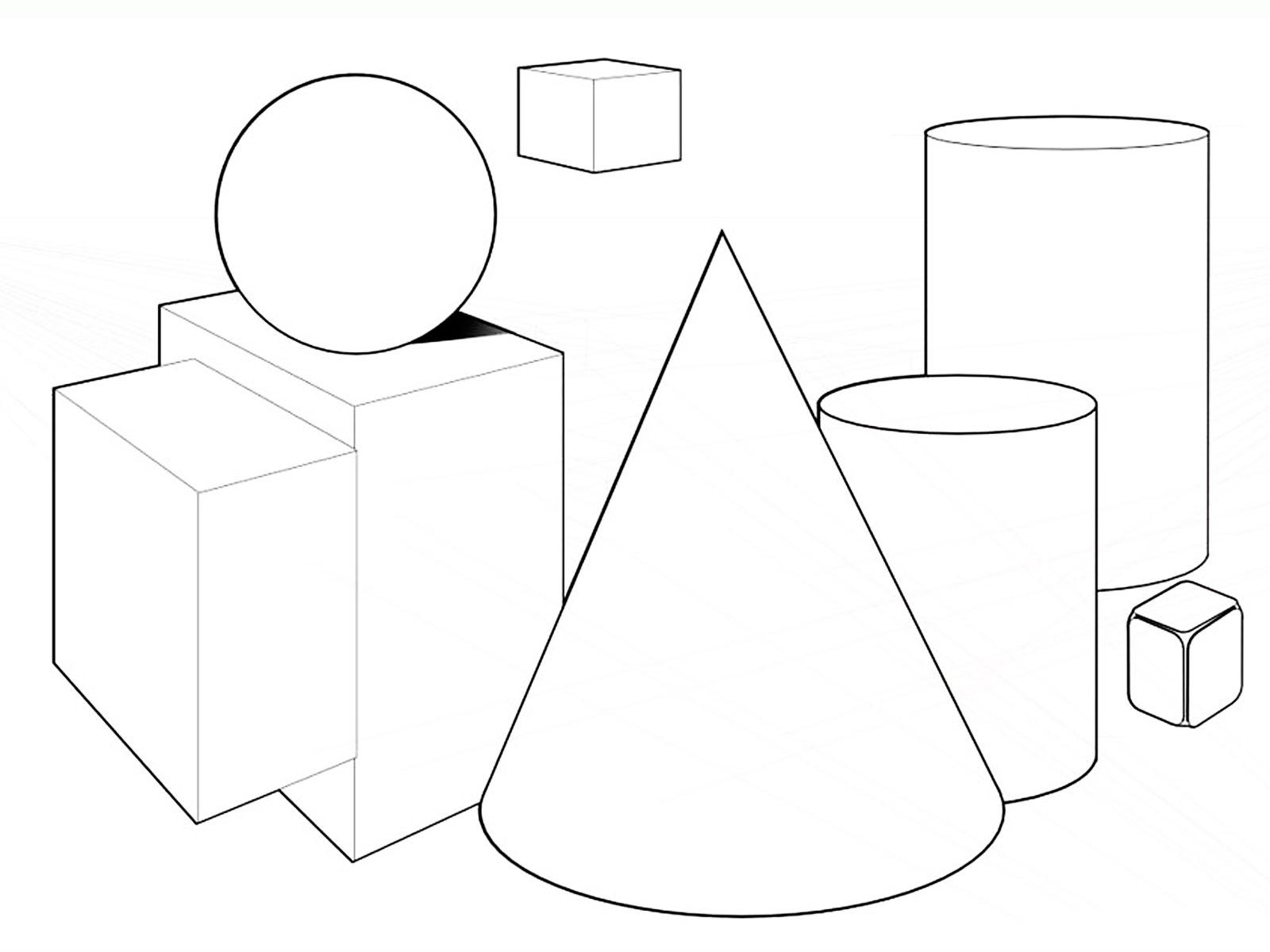 Раскраски геометрические фигуры. Скачать. Распечатать