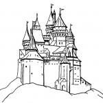 раскраска дом, раскраска крепость