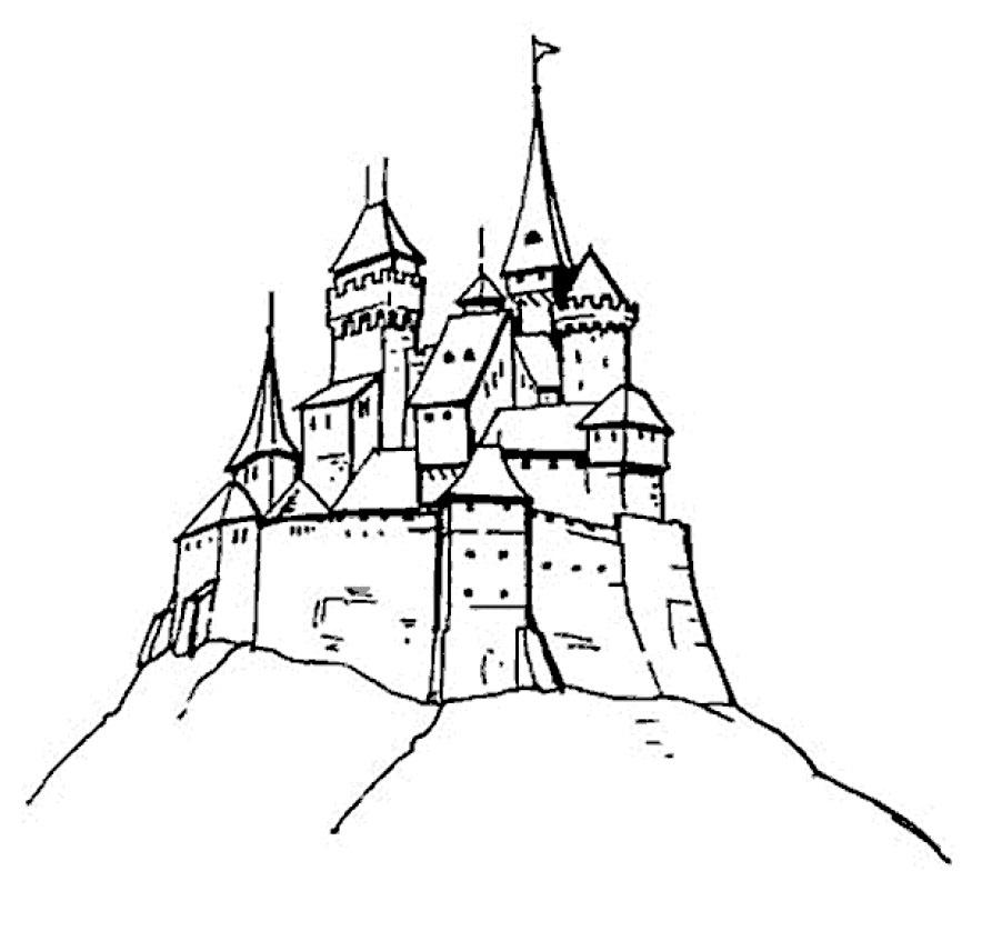 Раскраска крепость