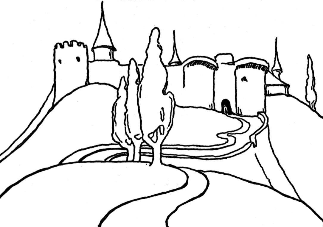 раскраски дома и замки скачать распечатать