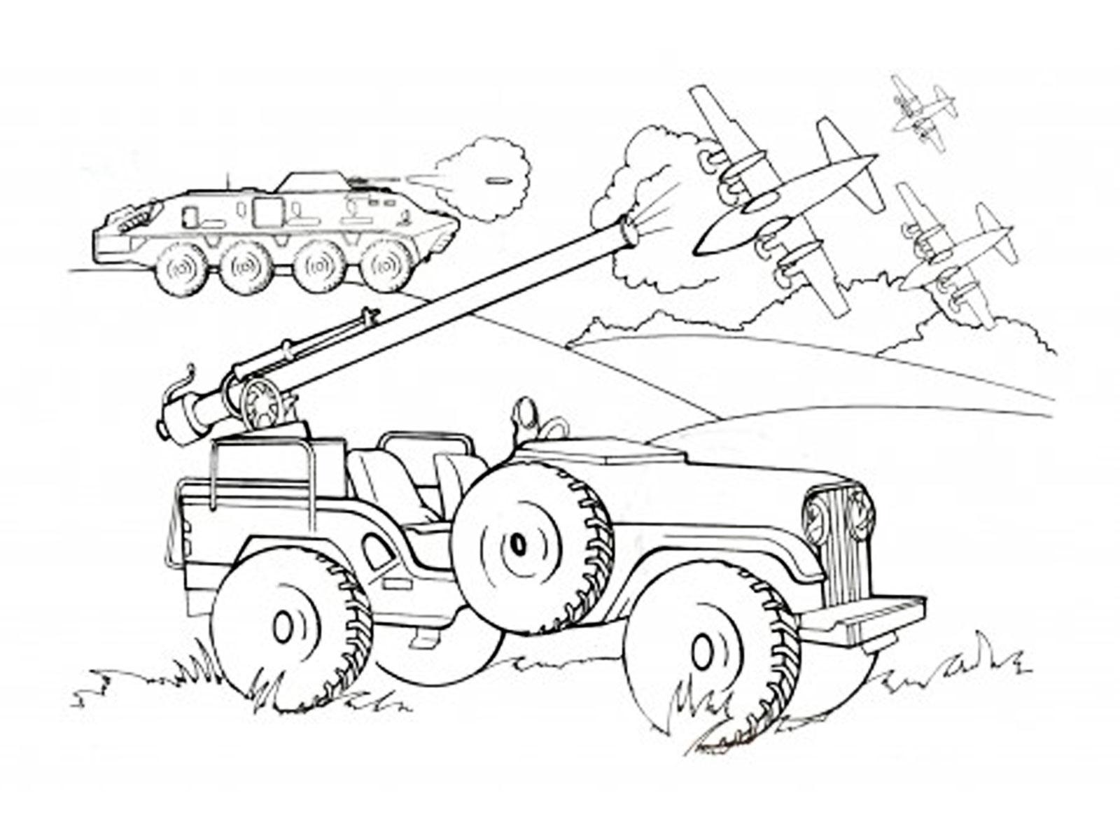 раскраски военная техника скачать распечатать