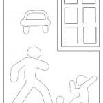 раскраски дорожные знаки, раскраски правила дорожного движения
