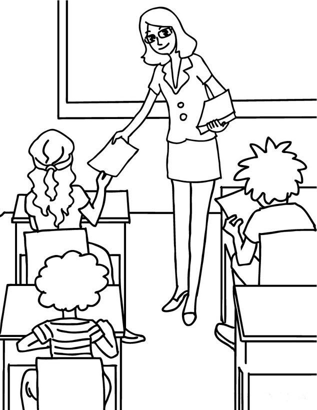 Раскраски про школьников
