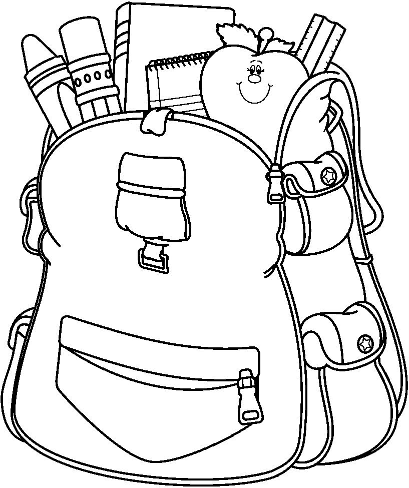coloring pages school items - photo#16