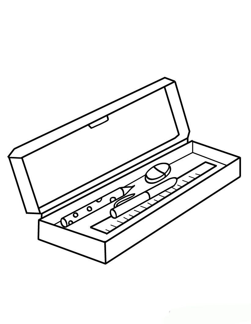 coloring pages school items - photo#22