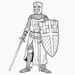 раскраски солдаты, раскраски рыцари