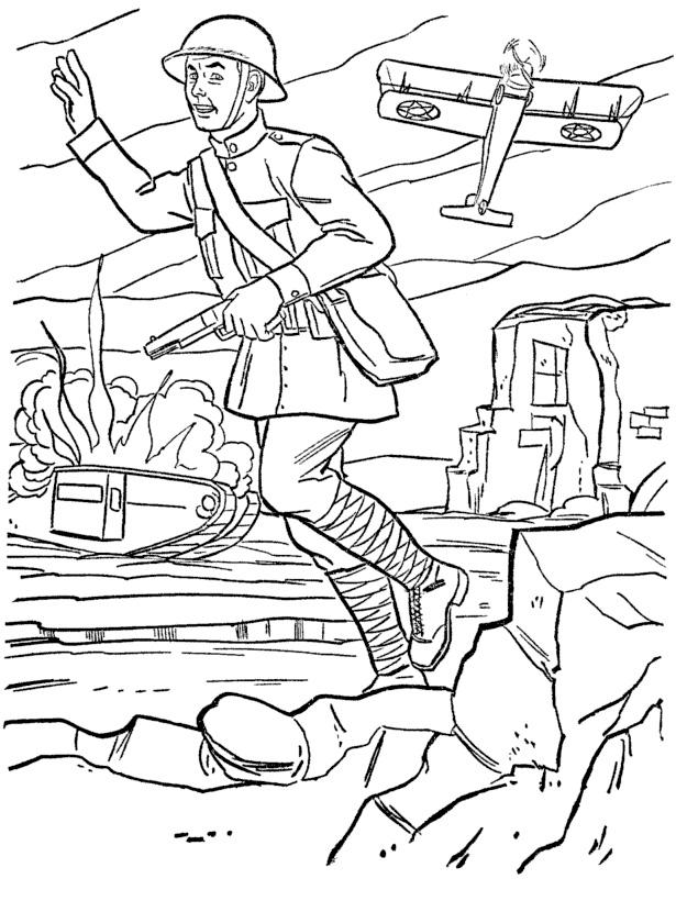 Раскраски солдата для детей