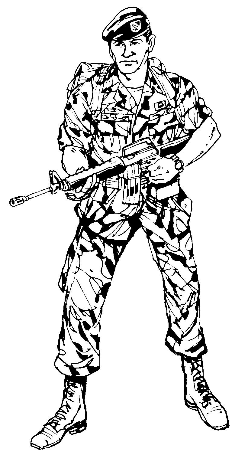 Распечатать раскраску солдатов
