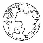 раскраски космос, раскраска планета