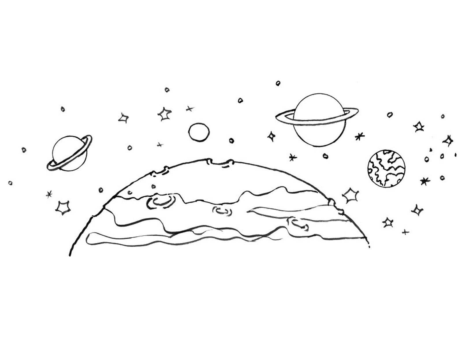 Раскраска космос планеты