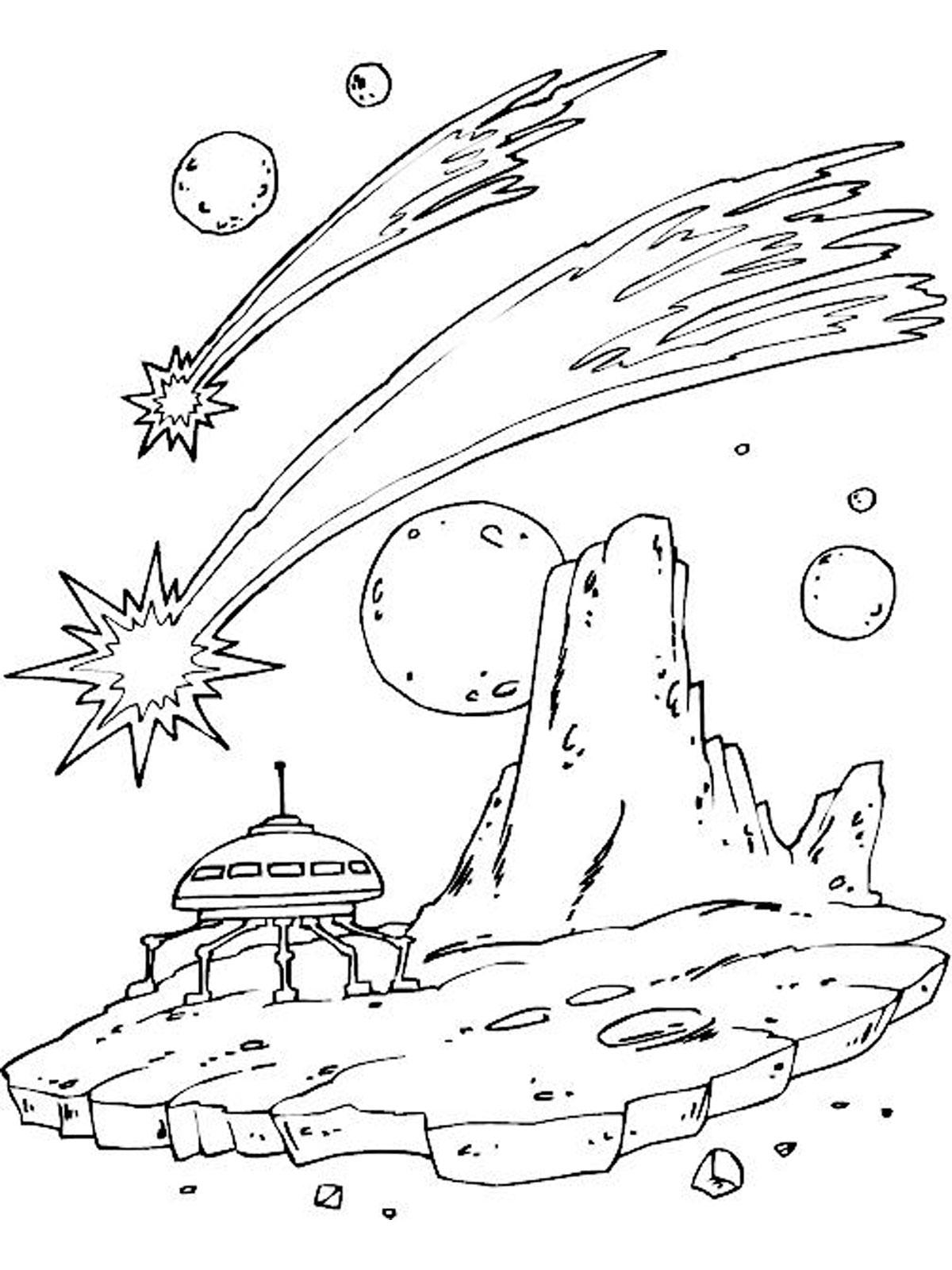 Раскраски космос. Скачать. Распечатать