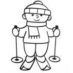 зимние виды спорта раскраски для детей распечатать