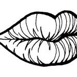 раскраска тело человека, раскраска губы