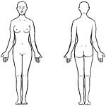 раскраска тело человека, раскраска тело
