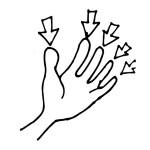 раскраска тело человека, раскраска пальцы
