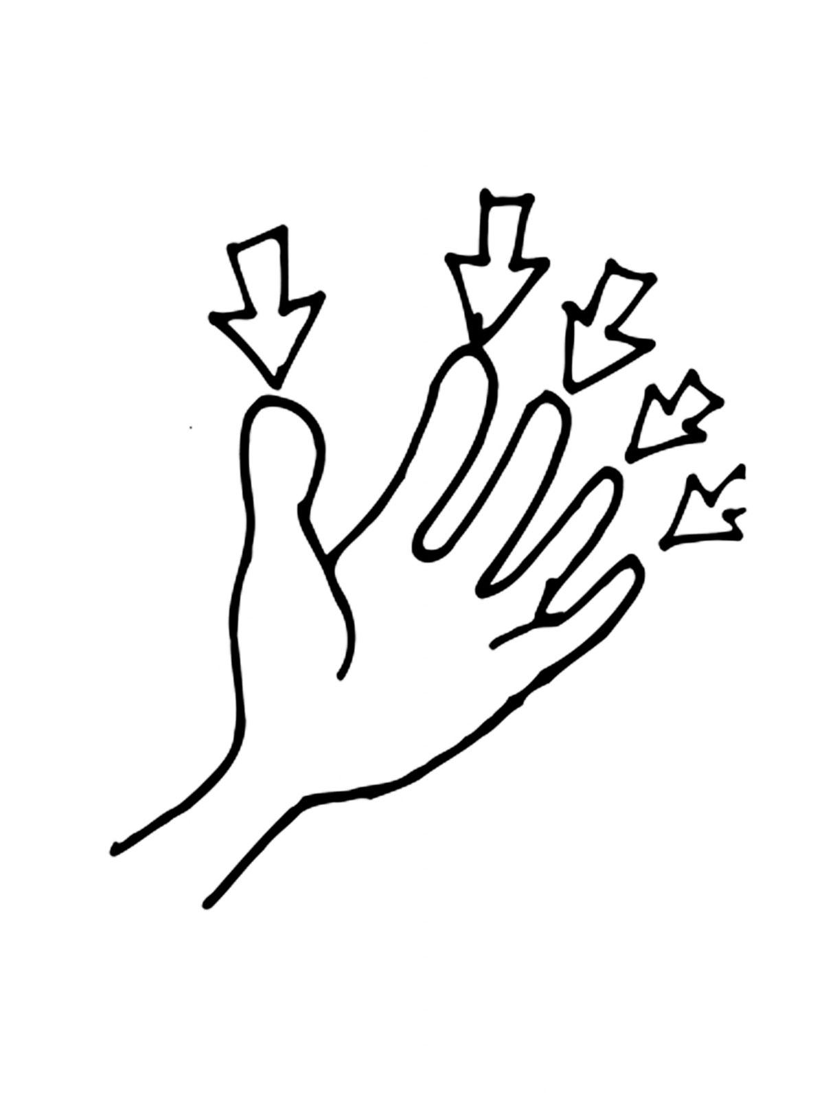 Пальцы раскраска