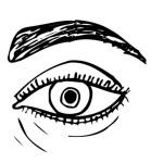 раскраска тело человека, раскраска глаз