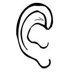 раскраска тело человека, раскраска ухо