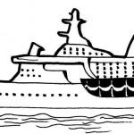 раскраски водный транспорт