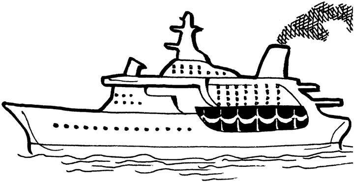Раскраски водный транспорт Скачать Распечатать
