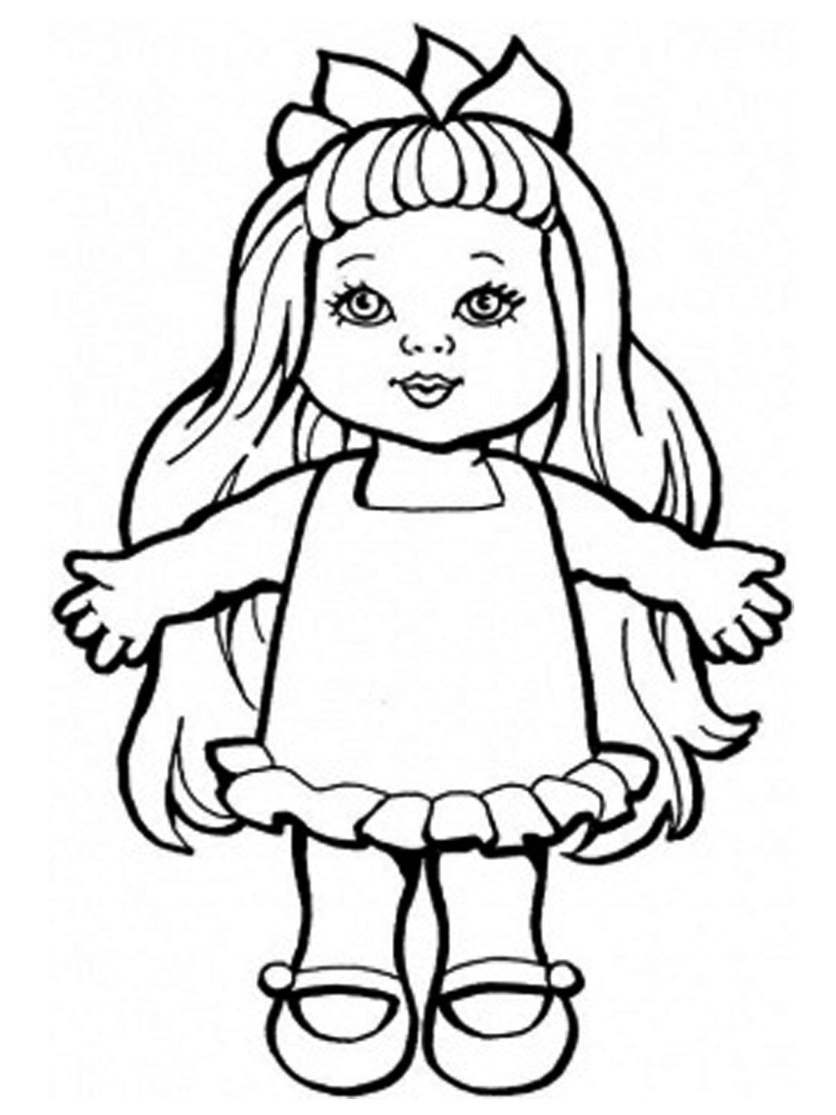 Картинки раскраска куклы