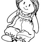раскраска куклы