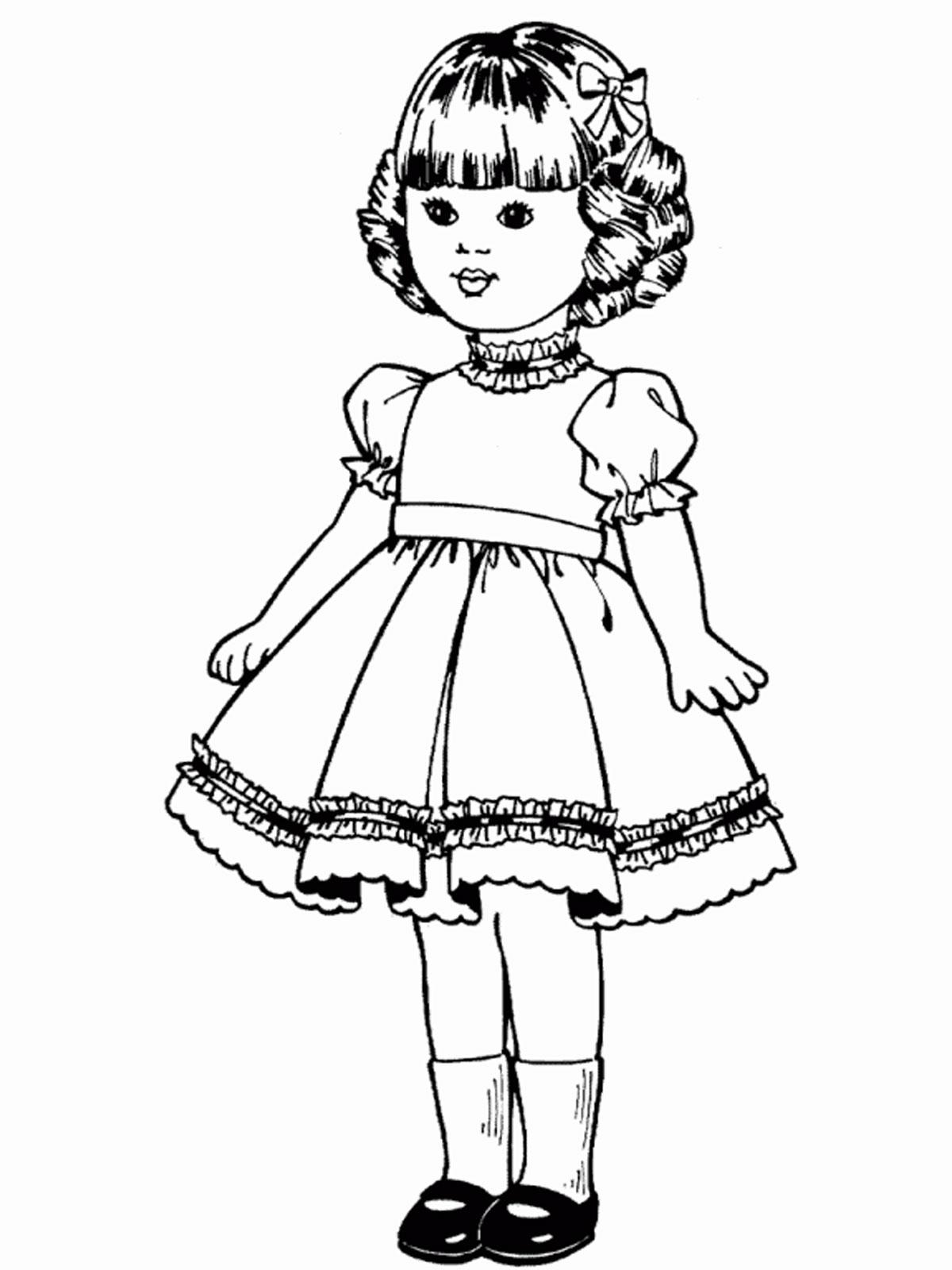 Раскраска девочка в платье - 10