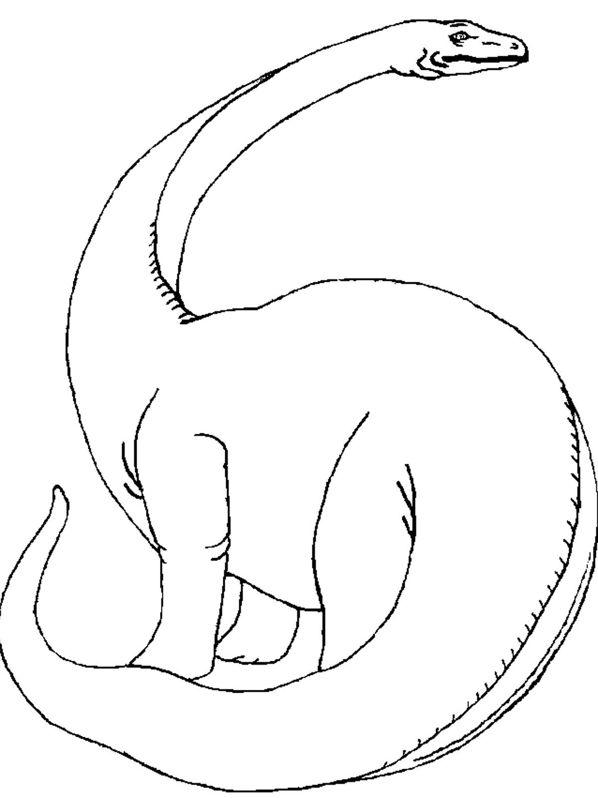 Онлайн раскраски с динозаврами