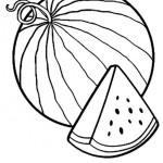 Раскраски фрукты и ягоды