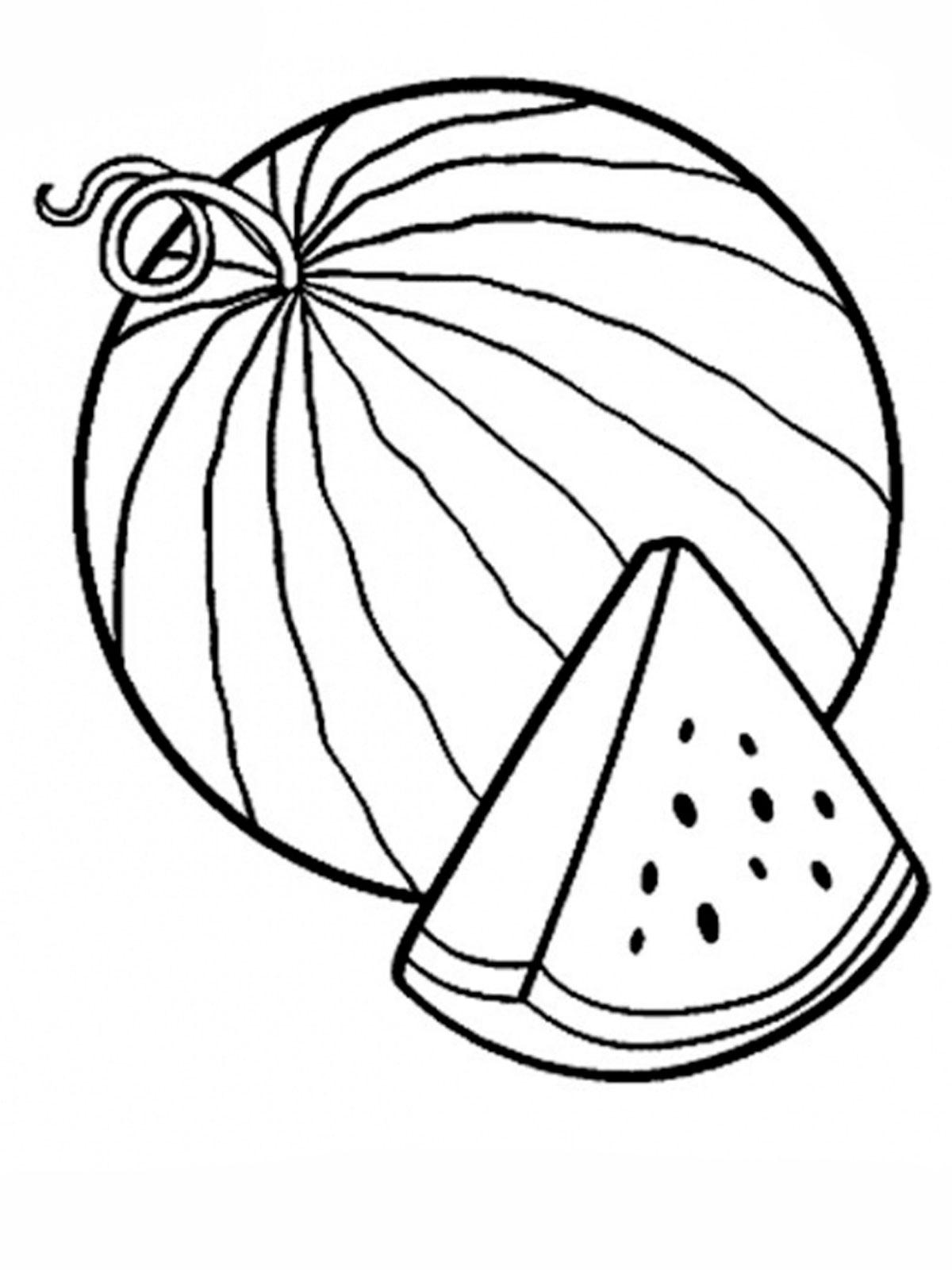 А арбуз раскраска