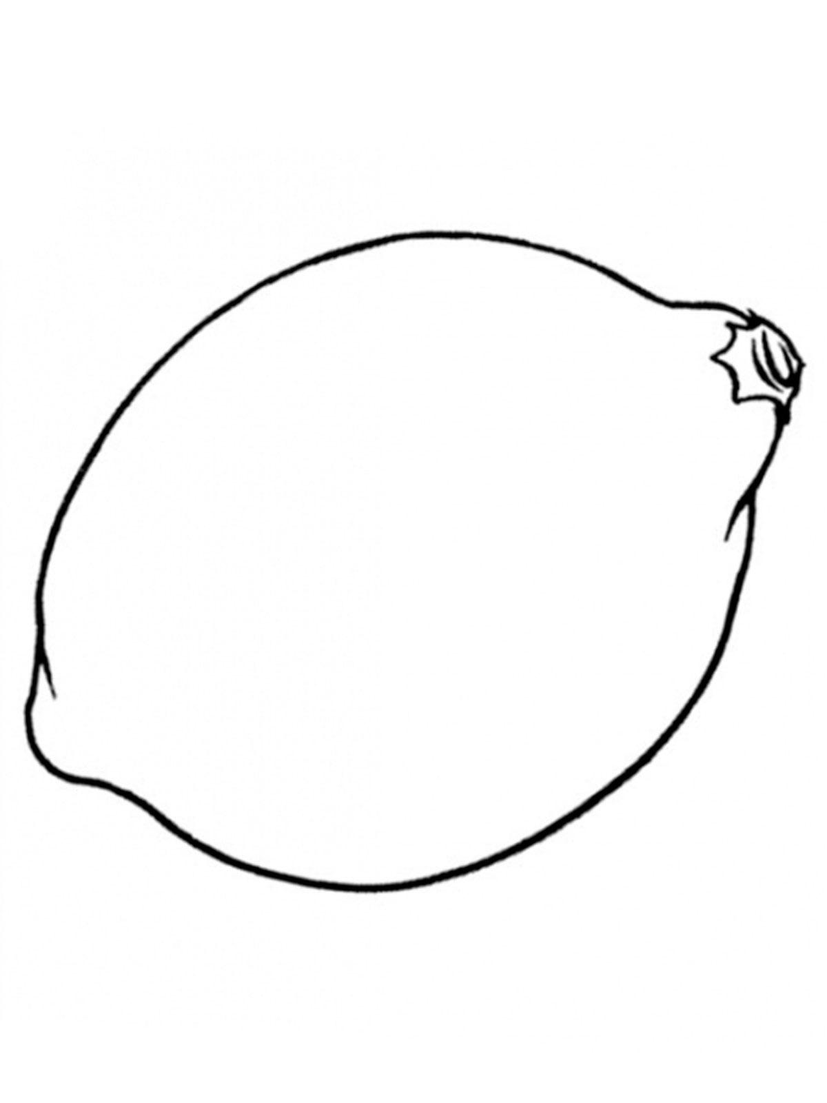 лимон картинка раскраска для детей
