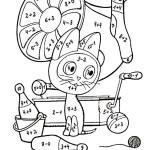 математические раскраски, раскраски счет в пределах 10