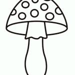 раскраски грибы