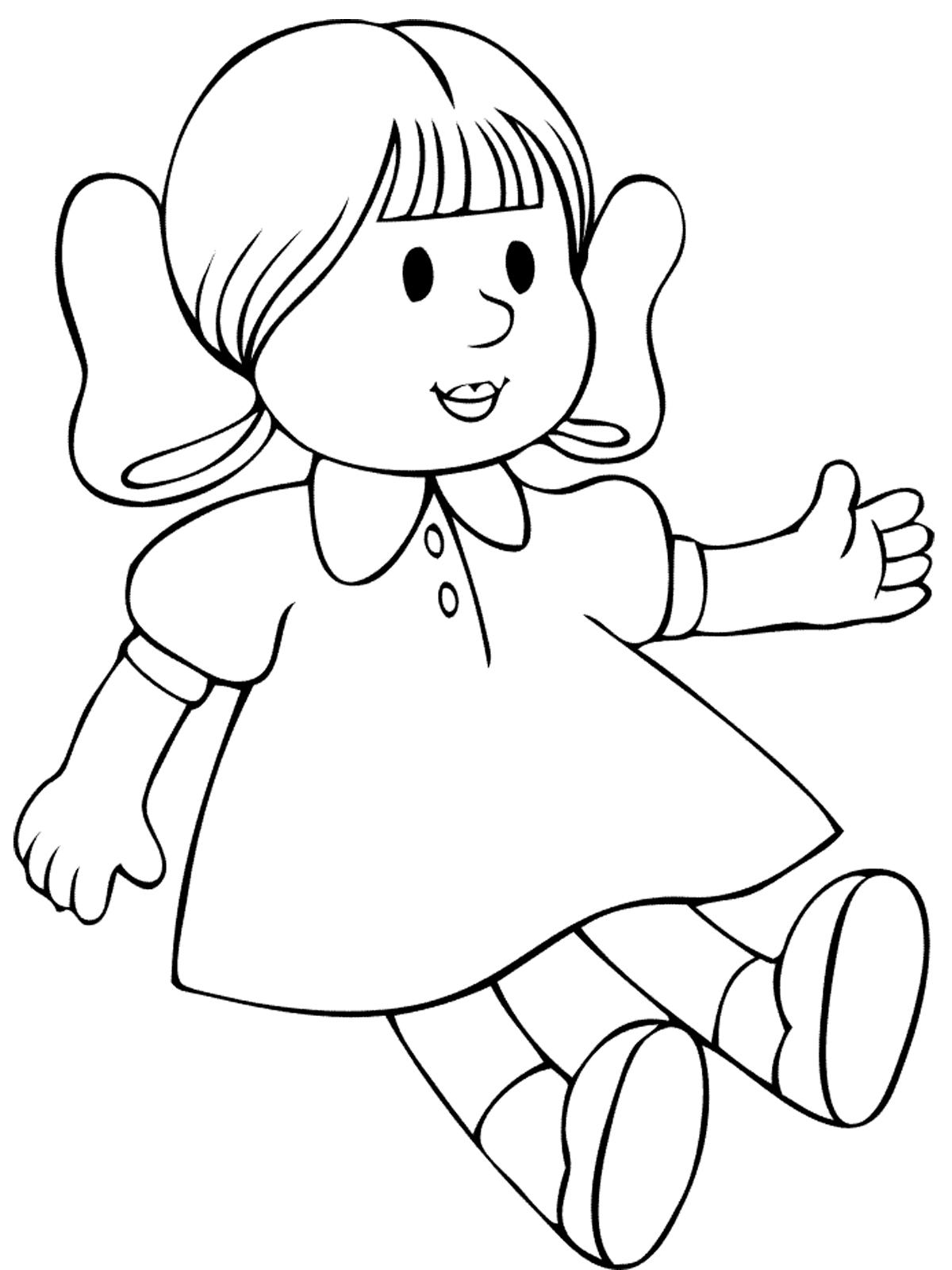 Картинка куклы раскраски