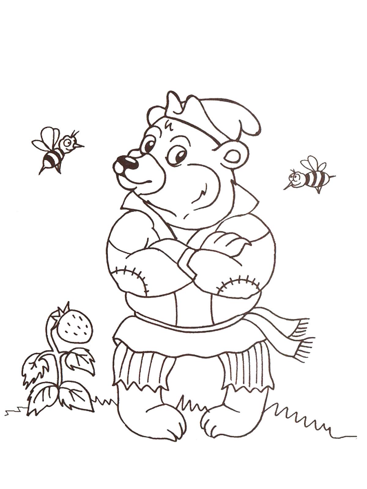 Раскраски медведь сказочный