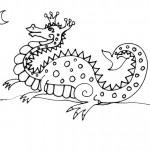 раскраска драконы