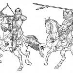 раскраски рыцарей