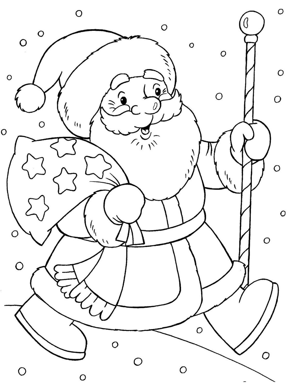 Раскраска снегурочка и дед мороз распечатать бесплатно