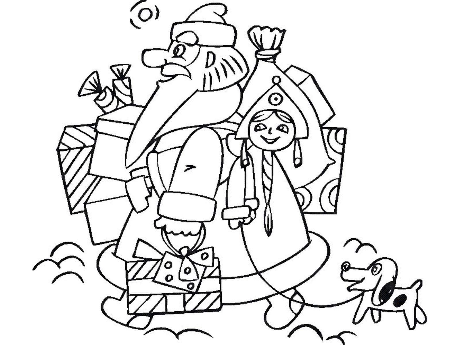 Игры для девочек раскраски деда мороза и 199