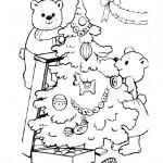 раскраски новый год, новогодняя раскраска