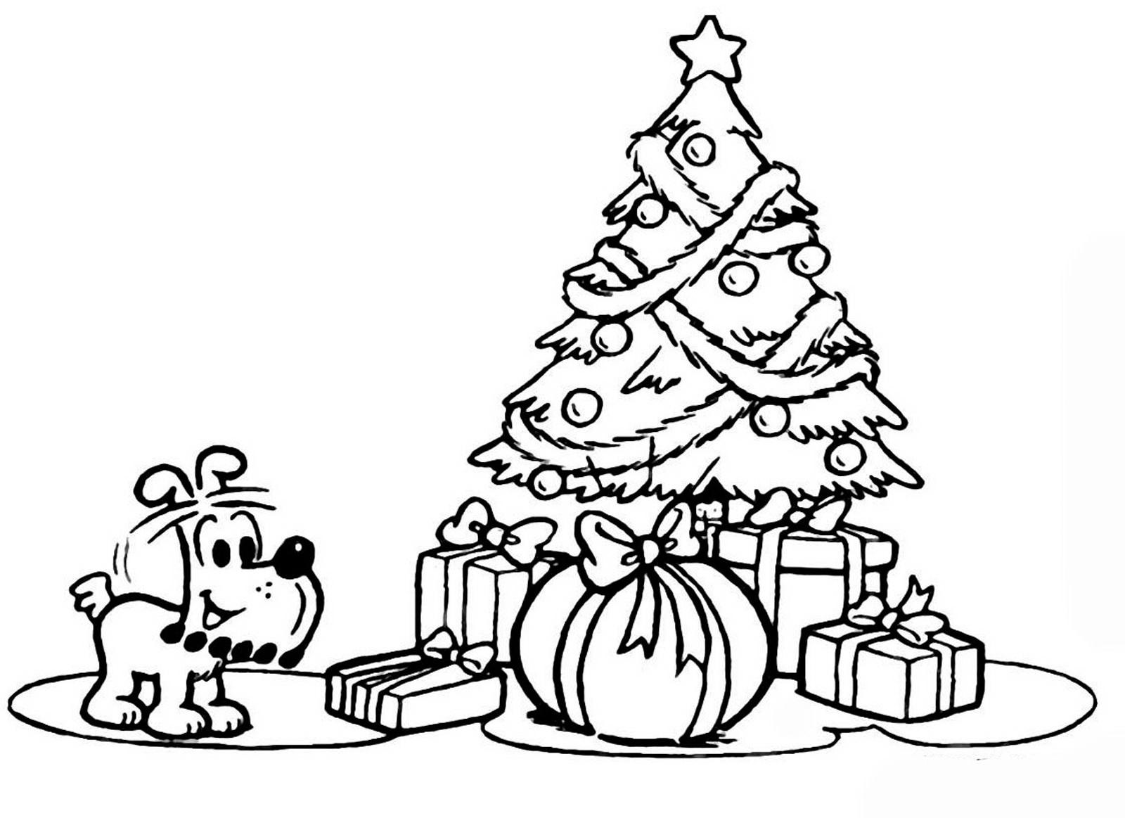 Новогодние картинки с елкой и подарками нарисованые