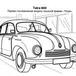раскраска старинные машины