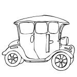 раскраска старинное авто