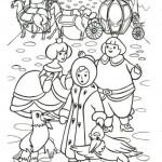 раскраска снежная королева