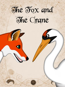 Лиса и журавль, The fox and the crane