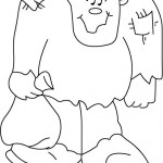 раскраска хэллоуин, раскраскИ франкенштейн